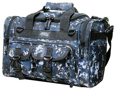 "SMALL Gun GEAR RANGE BAG Blue Camo Pistol Ammo Storage Luggage Sports Duffle 15/"""