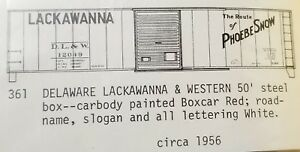LMH-C-D-S-CDS-361-DELAWARE-LACKAWANNA-Western-DL-amp-W-50-039-Steel-Boxcar-PHOEBE-SNOW