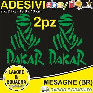 2-Adesivi-Dakar-Paris-Africa-Honda-KTM-Vinile-Decalco-Moto-Stickers-VERDE-GREEN