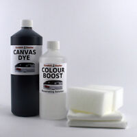 DARK BROWN Convertible Roof CANVAS DYE Kit with Colour Boost. Soft Top Restorer