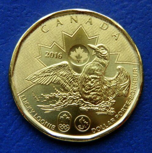 1$ LUCKY LOONIE Rio Olympics CANADA 2016 UNC