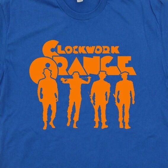 A Clockwork Orange T SHIRT Vintage Retro Cult Movie Poster Tee Stanley Kubrick