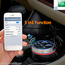 Car Bluetooth Handsfree Kit FM Transmitter Radio MP3 Player W/3-Port USB Charger