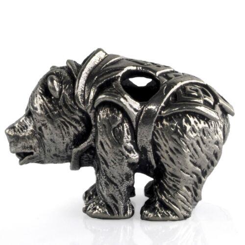 Unique Polished Norse Bear Paracord Bead for DIY Bracelet Lanyard Keychain EDC