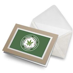 Greetings-Card-Biege-Canabis-Medical-Use-Weed-Marijuana-5871