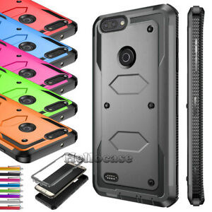 meet 8c54c dcd16 Details about Shockproof Hybrid Armor Dual Layer Protective Hard Case Cover  For ZTE Phones