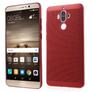Huawei-Mat-9-Hard-Case-Etui-de-Telephone-Portable-Etui-Coque-Rouge-Mat