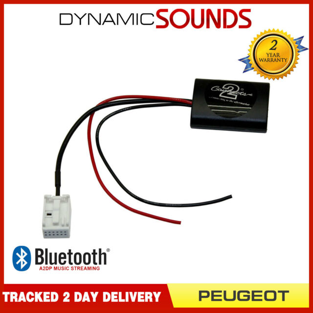 Connects2 CTAPE1A2DP Bluetooth Streaming Adaptateur Interface pour Peugeot