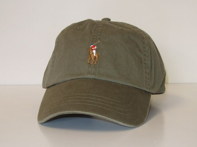 Polo Ralph Lauren Mens Olive Green Color Pony Logo Baseball Hat One ... 7784cbc68696
