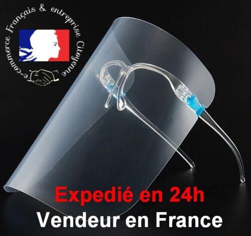 """Visière de Protection Translucide et legere /""""Modèle Lunette/"""" 25x19cm TOP VENTE"""