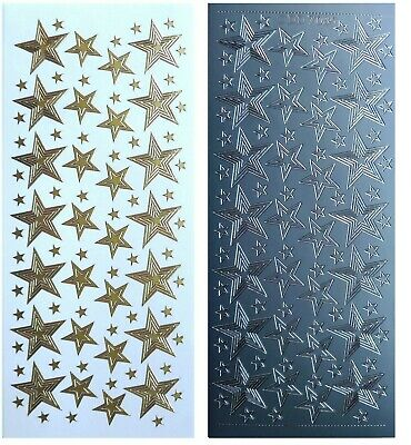 Swirls Stars Christmas Birthday Peel Off Stickers Card Making Craft 3cm Corners