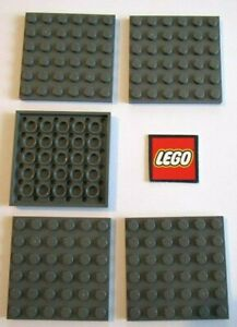 city//star wars//marvel Lego 4x8 plate in Black 3035 pack of 6 - NEW