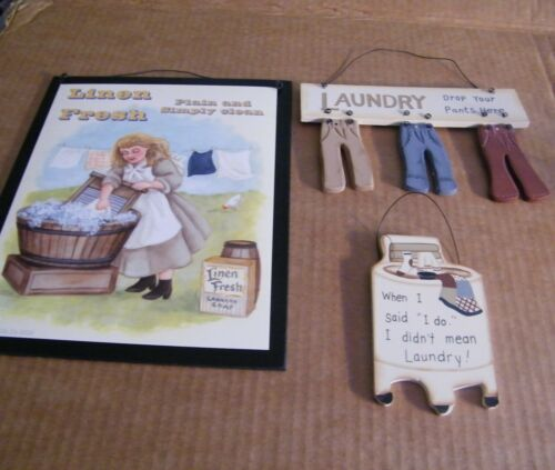 """LAUNDRY today or naked tomorrow country primitive room decor wood sign 6x4/"""""""