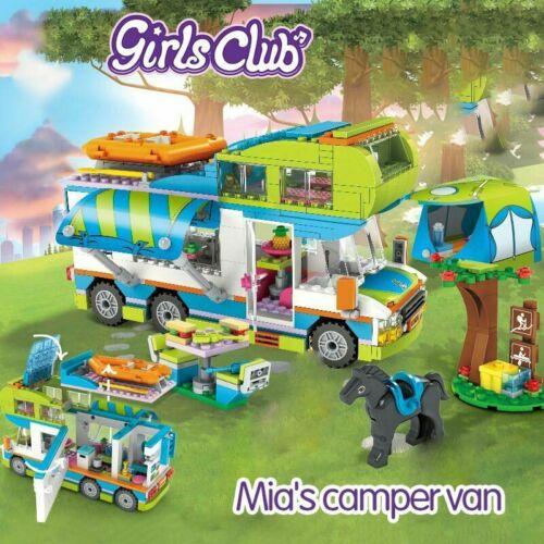 534pcs Girls Friendship Camper Camp Van Car Building Blocks Bricks Set Toy DIY