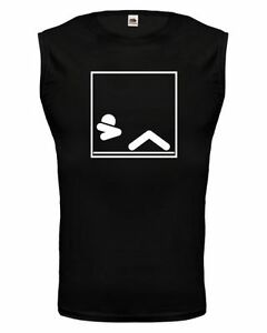 Muskelshirt ärmellos Tank Top Sit-Ups-Piktogramm Bauchmuskeln Fitness Kraftsport
