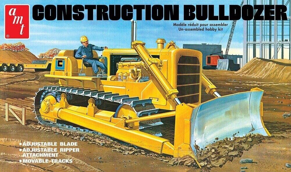 AMT 1 25 Construction Bulldozer Plastic Model Kit AMT1086