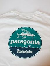 Patagonia hat patch Flying Fish Honolulu Hawaii T-shirt rare white XS