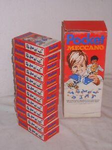 Jouet Vintage Meccano 12x Poche Construction Kit En Sales Box