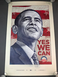 Barack Obama Yes We Can Antar Dayal Official Campaign Print 1810 5000 Poster Ebay