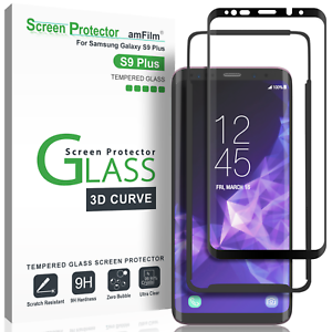 Samsung-Galaxy-S9-Plus-amFilm-3D-Curved-Tempered-Glass-Screen-Protector-1-Pack