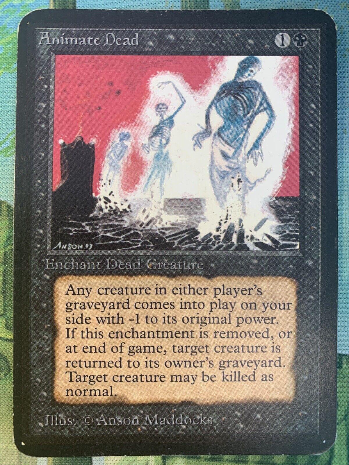X1 Alpha Animate Dead (MP) MTG Magic