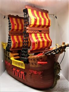 Pirate Ship Fisher Price Imaginext Adventures 2006 Brown Red Retired Boat L1284.