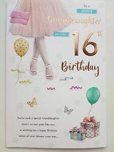 Image Is Loading Granddaughter 16 16th Glitter Dress Design Happy Birthday