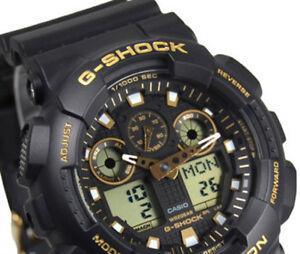 baf6a9a0e80 Casio G-Shock GA-100GBX-1A9 Black Original Mens Watch 200M New In ...