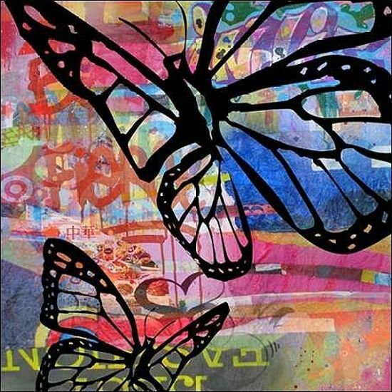 MICHA Baker  Butterfly Butterfly Butterfly I IMMAGINE Telaio incastro TELA FARFALLA MODERNO POP 1f42cc