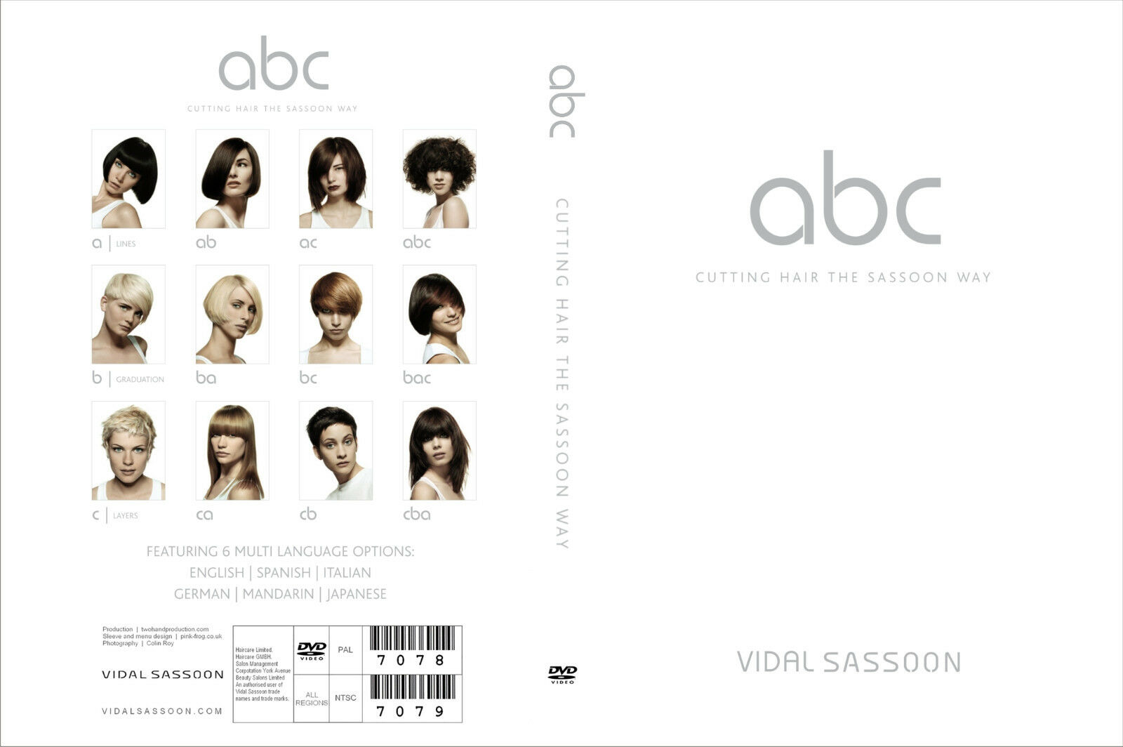 ABC Cutting Hair The Vidal Sassoon Way Education 12 Dvd. Super Training