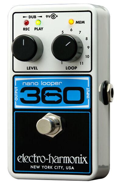 design unico Electro Harmonix Ehx Nano Looper 360 Pedale, Pedale, Pedale, Nuovo in Scatola  di moda