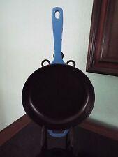 "LODGE Enameled Blue Cast Iron Skillet Fry Pan 11""  FREE SHIPPING"