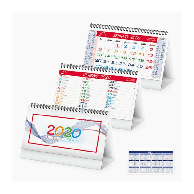 19x14 blu Calendario da tavolo triangolare spiralato 2021