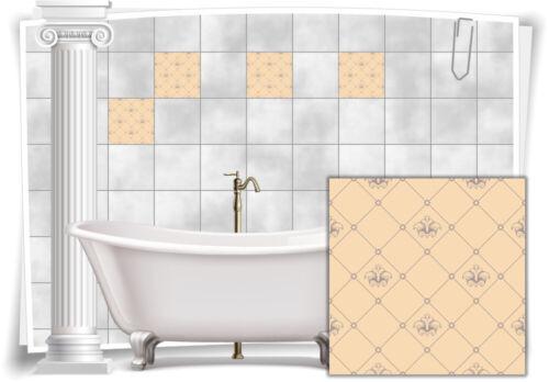 Fliesenaufkleber Fliesen Aufkleber Vintage Nostalgie Retro Alt Küche Bad WC Deko