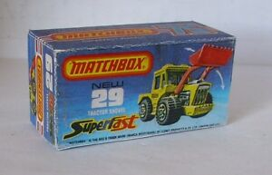 Repro Box Matchbox Superfast Nr.29 Tractor Shovel