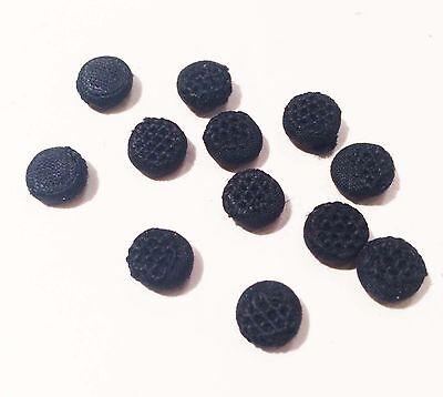 2 Doz Vintage Antique Black Cotton Buttons UNUSED Doll Lingerie