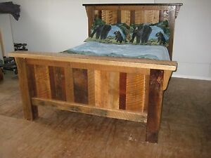 Rustic Barn Wood Furniture Full Size Bed Frame Amish Made In The