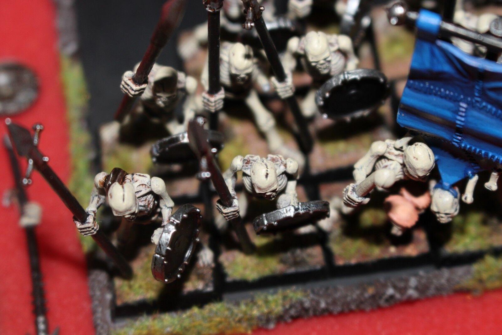 Games Workshop Warhammer Undead Skeleton Warriors Regiment Well Well Well Painted Fantasy 797da0