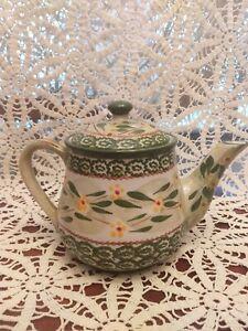 Temptations Old Green World Tea Pot With Lid