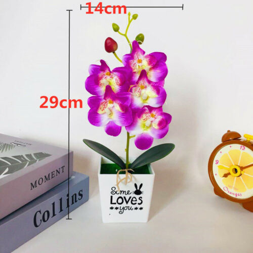 Artificial Butterfly Orchid Flower Fake Potted Plants Home Wedding-Party Decor