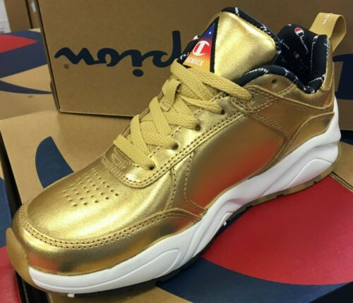 Champion 93Eighteen Metallic GS Boy/'s// Women/'s Walking Shoes Gold CM100108Y L