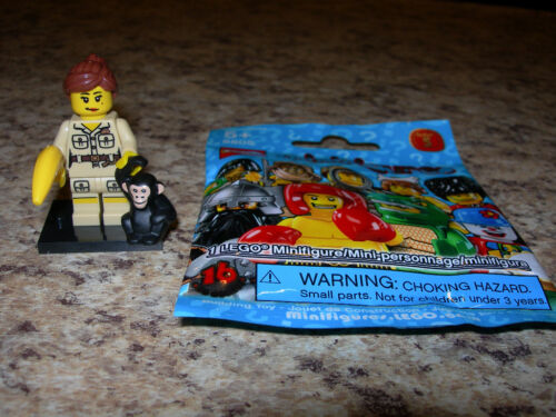 SEALED LEGO Series 5 Minifigure ZOO KEEPER 8805 chimp banana Jane Goodall NEW