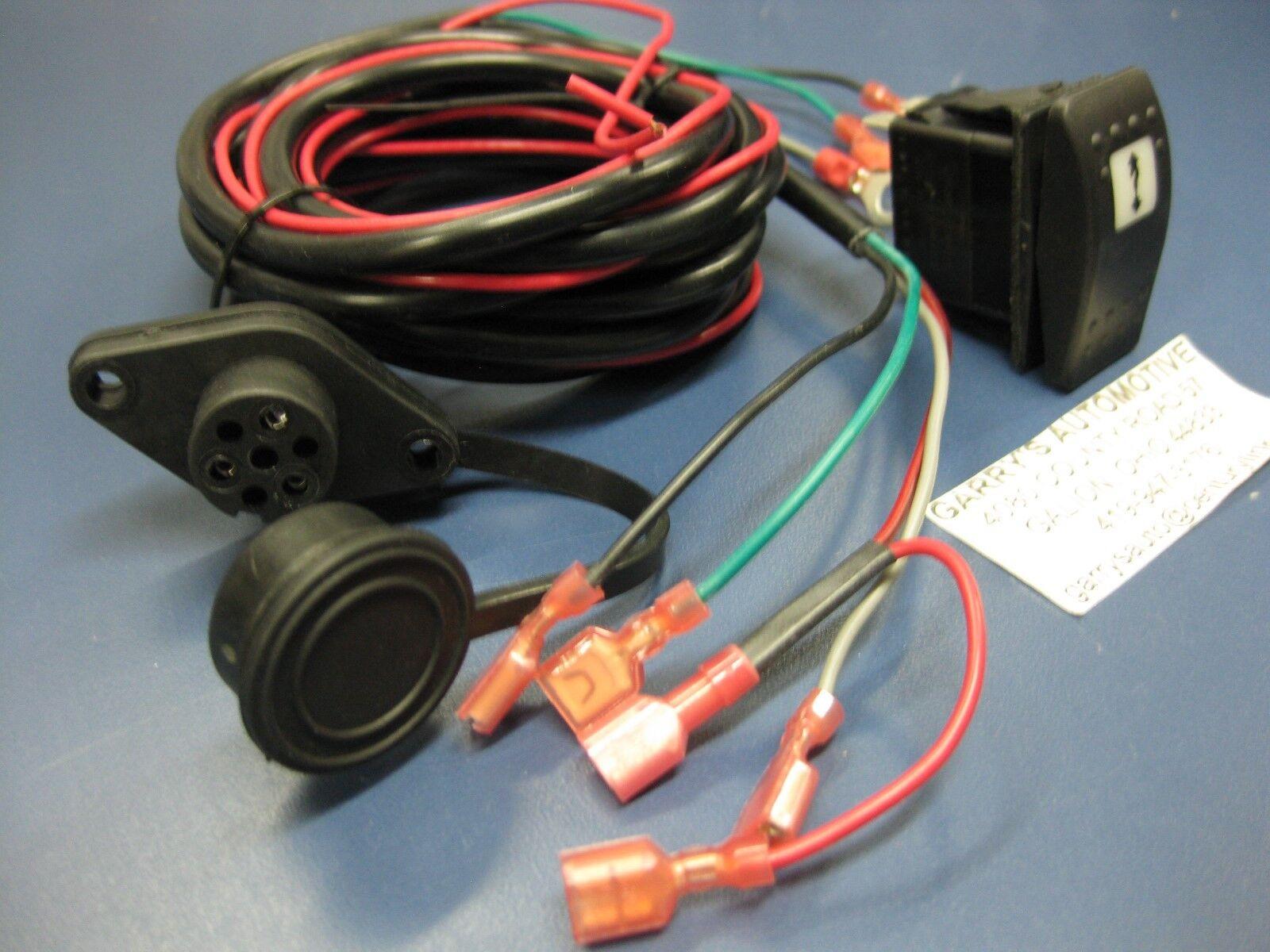 Warn 99897 Dash Rocker Switch Kit Incl Illuminated Switch To Operate Winch Wiri