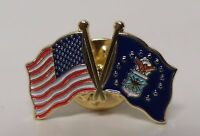 1 - High Quality American Air Force Flag Lapel Pins - Us Usa U.s.a. Combo U.s.