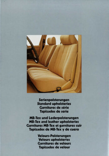 0013MB Mercedes Polster Prospekt 1979 6//79 8 Seiten brochure upholsteries