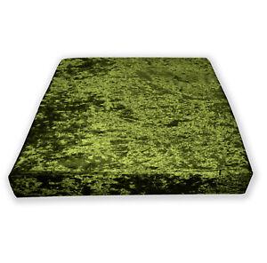 Mv12t-Olive-Lime-Diamond-Crushed-Velvet-3D-Box-Seat-Cushion-Cover-Custom-size