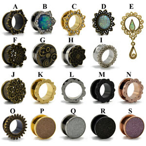 Surgical-Steel-Ear-Plugs-Gauges-Earrings-Flesh-Tunnel-Expander-Piercing-Jewelry