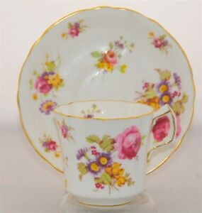Ornate-Victorian-Floral-Hammersley-Tea-Cup-and-Saucer-Set
