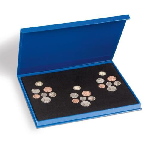 Lighthouse Pounds /& Pence Coin Box Case for 3 Shield Set Coins Storage
