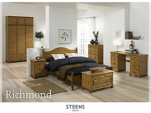 Details about Richmond Pine Bedroom Furniture Wardrobes & Chest of Drawers